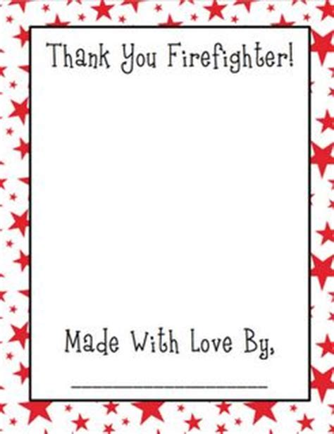 thank you letter after kindergarten thank a firefighter teaching helmets and pictures