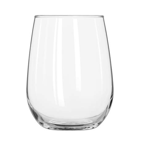 stemless wine glasses libbey 221 17 oz stemless white wine glass