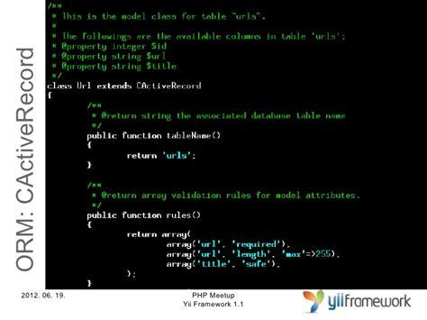 yii cactiverecord tutorial yii framework bemutat 243