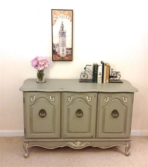french provincial console sideboard or dresser painted
