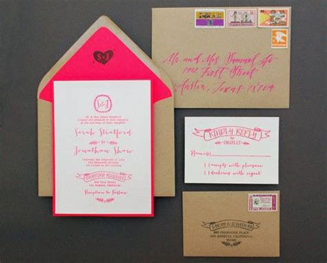 Handmade Wedding Stationary - 24 diy wedding invitations that will save you money