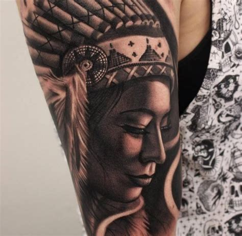 native american girl tattoo 9 best american designs for images on
