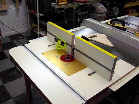table saw with router table saw wing as a router table