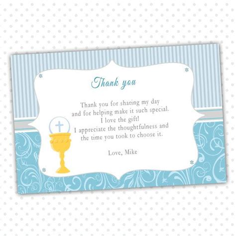 free printable thank you cards first holy communion 10 best religious party thank you cards images on