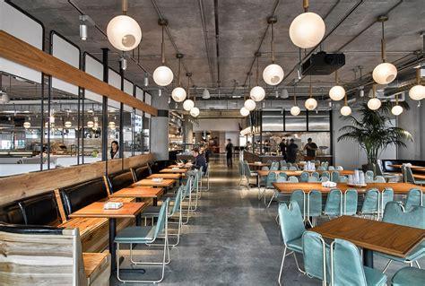 corporate food court design avroko designs a workplace cafeteria for dropbox
