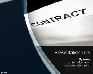 template ppt law free contract powerpoint template