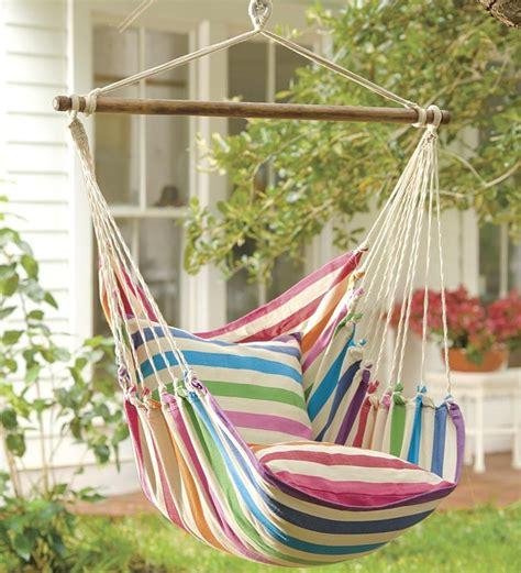 plow  hearth rainbow striped hammock swing cradle