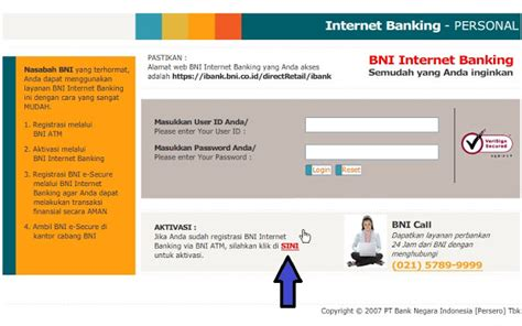 inet bank cara daftar registrasi dan aktifasi e banking