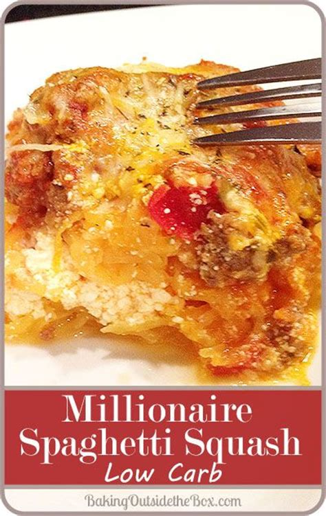 no carb comfort food millionaire spaghetti squash low carb recipe count