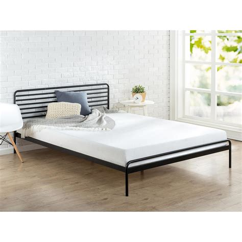 Black Platform Bed Frame Zinus Sonnet Metal Black King Platform Bed Frame Hd Rppba 14k The Home Depot