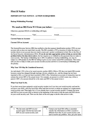 First B Notice Fillable Fill Online Printable Fillable Blank Pdffiller B Notice Form Template