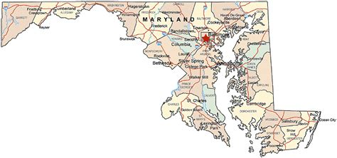 maryland map cities printable us state maps free printable maps