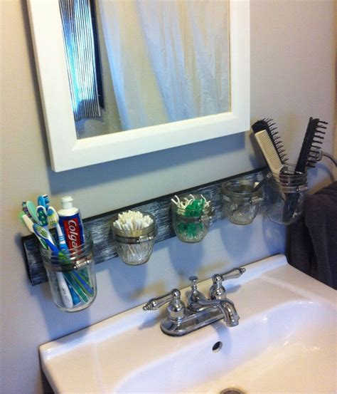 bathroom organizer ideas jar bathroom organizer home ideas