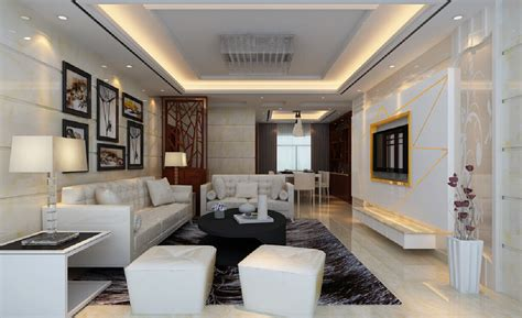 living room coffee house living room with white sofa and black coffee table 3d house