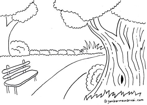 pemandangan alam coloring pages