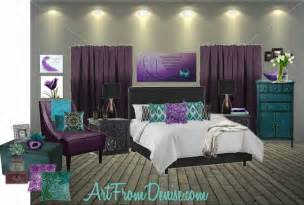 Purple And Teal Bedroom » New Home Design
