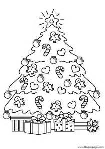 dibujo de rbol de navidad con velas para colorear arbol