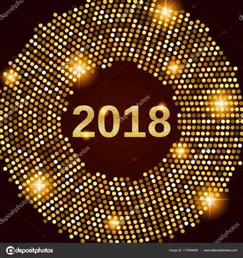new year 2018 celebration in la new year 2018 celebration background stock vector