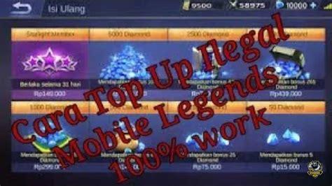 tutorial top up ilegal mobile legend top up ilegal mobile legends praktek mamang youtube