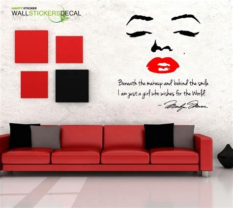 marilyn wall sticker marilyn bedroom wall stickers 28 images marilyn wall