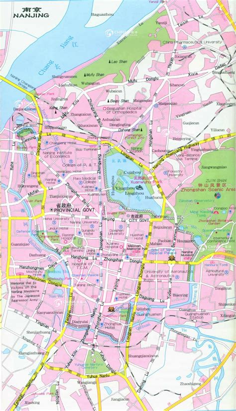 Nanjing City Map, China Nanjing City Map - Nanjing Travel ...