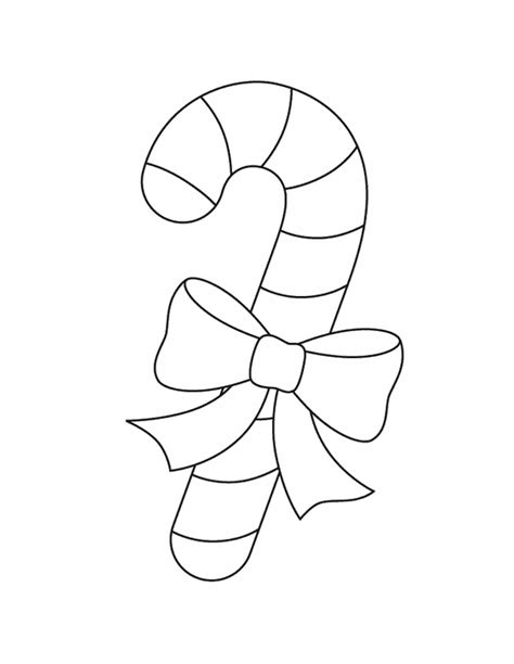 christmas candy cane coloring page coloring pages