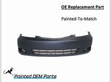 Painted 2002-2004 Toyota Camry OE Replacement Front Bumper ... 2004 Camry Xle Reviews