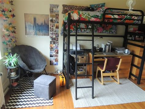 lofted bed dorm 202 best dorm ideas images on pinterest college