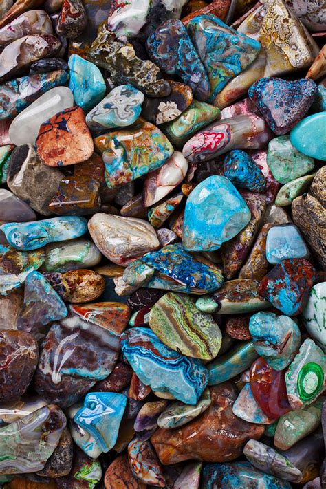 colored stones colored polished stones photograph by garry