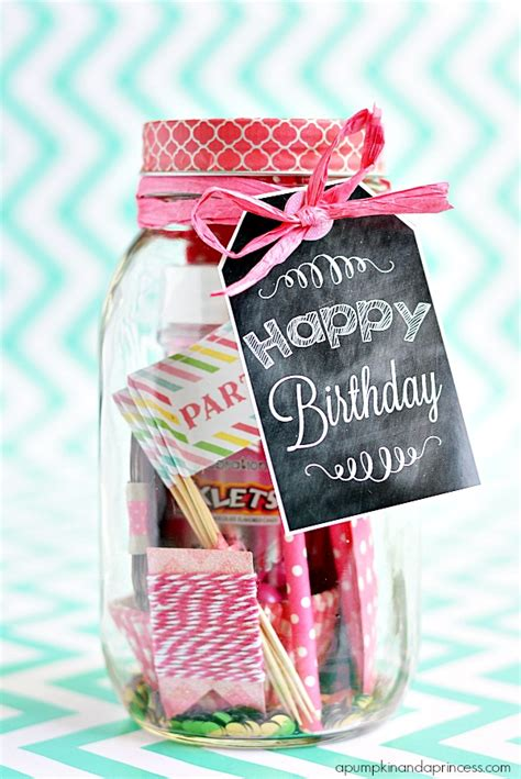 gift ideas for birthday in a jar birthday printable tags a pumpkin and a princess