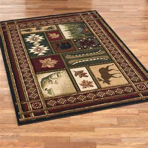Rustic Cabin Area Rugs Cabin Chalet Rustic Area Rugs