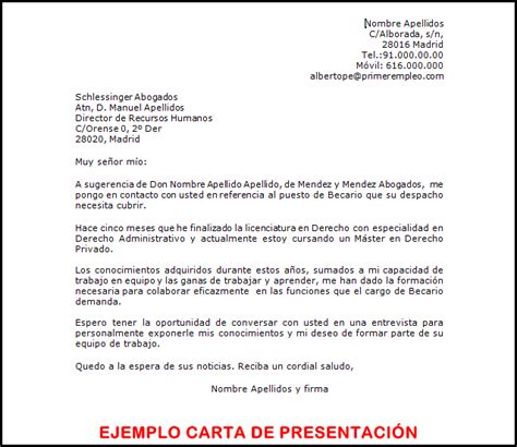 Modelo Carta De Presentacion Enviar Curriculum El De Los Parados La Carta De Presentaci 243 N Para El Curriculum