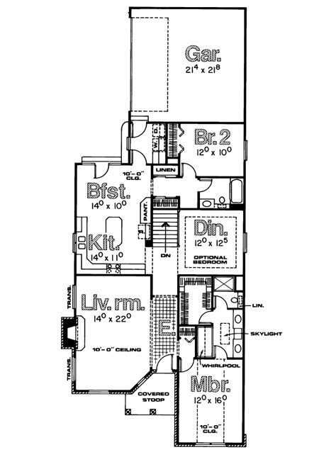 narrow one story house plans narrow house plans single story cottage house plans