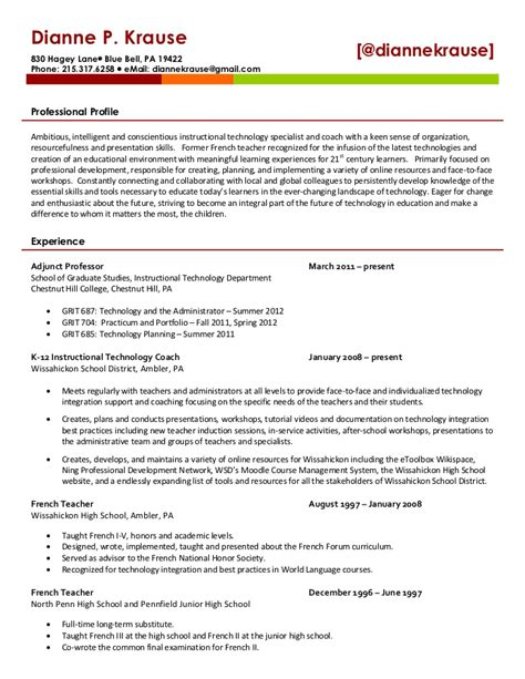 dianne krause s resume