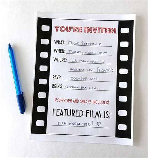 25 best ideas about movie party invitations on pinterest