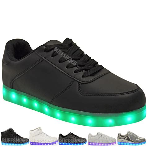 light up trainers womens womens ladies usb led lights sneakers shoes luminous