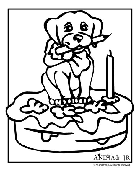 happy birthday dog coloring pages free happy 7th birthday cards coloring pages