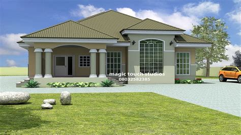 5 bedroom home 5 bedroom bungalow in ghana 5 bedroom bungalow house plan