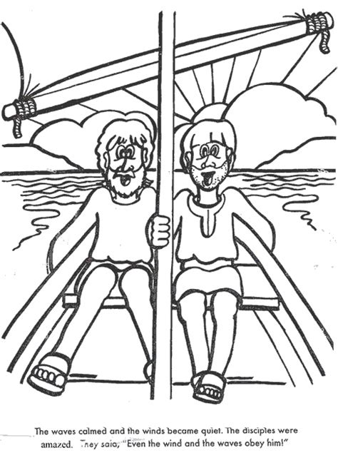 coloring pages jesus calms the 17 best images about vbs on crafts storms and