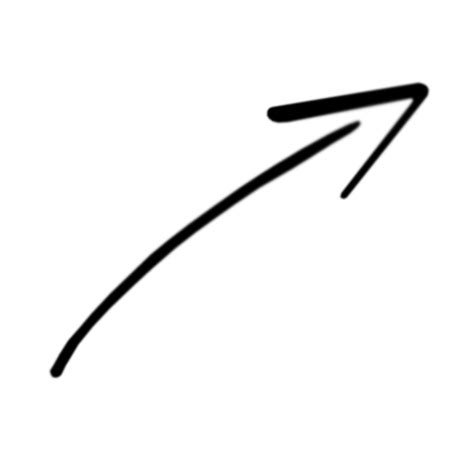 top right arrow rough drawig top right transparent png stickpng