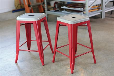 Spray Paint Bar Stools by Metal Bar Stools