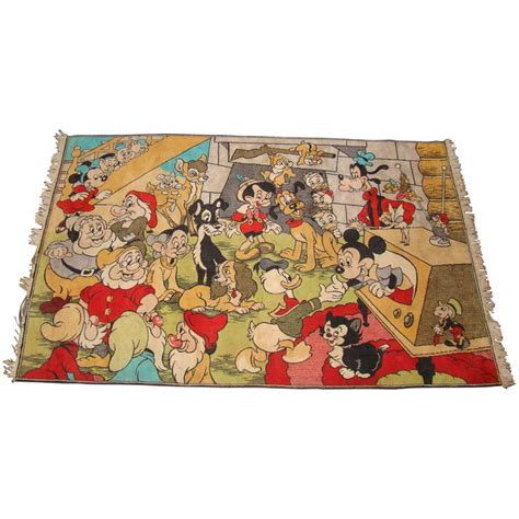 disney rugs spectacular and whimsical walt disney vintage area rug saturday sale at 1stdibs