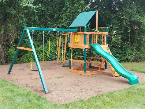 swing set installation included lifetime adventure tower playset peninsula all cedar