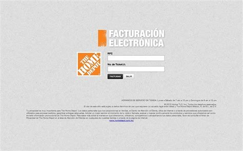 mexico factura electronica home depot the home depot m 233 xico facturaci 243 n electr 243 nica on behance