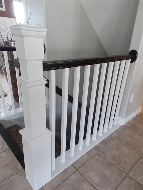 remodelaholic stair banister renovation  existing