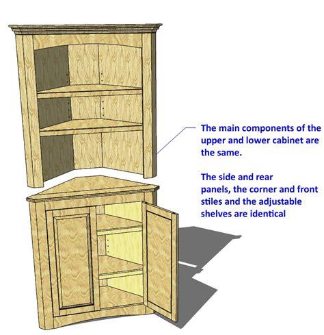 014 corner cabinet two piece unit 3d woodworking plans