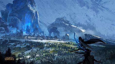 bows ruin landscape ashe league  legends wallpapers