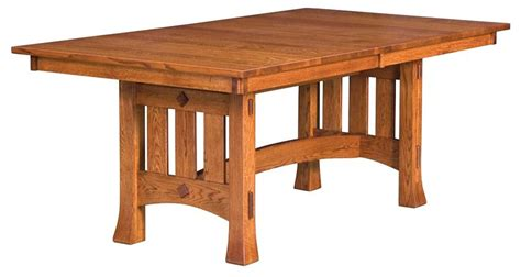 Amish Made Dining Tables Amish Mission Trestle Dining Table