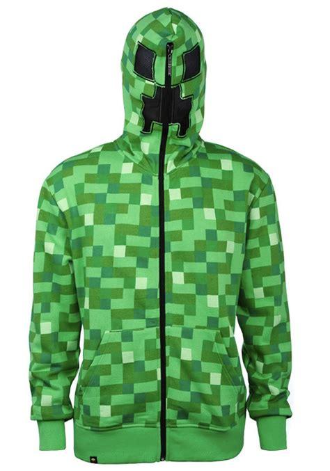 Sweater Zipper Hoodie Minecraft Jaket Hoodies Minecraft minecraft creeper hoodie