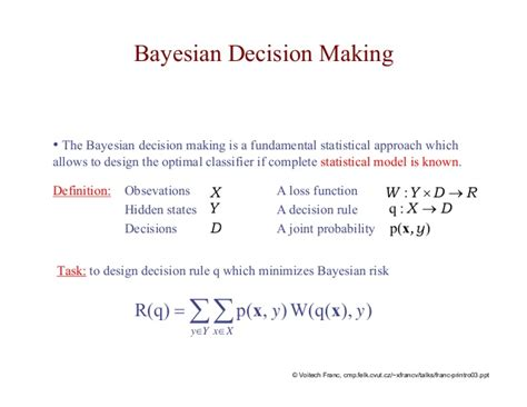 pattern recognition bayesian decision theory lecture artificial neural networks and pattern recognition